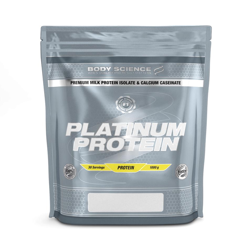 Ett grymt protein som knappt innehåller fett eller kolhydrater. Anväder platinum protein som mellanmål och innan träningen.