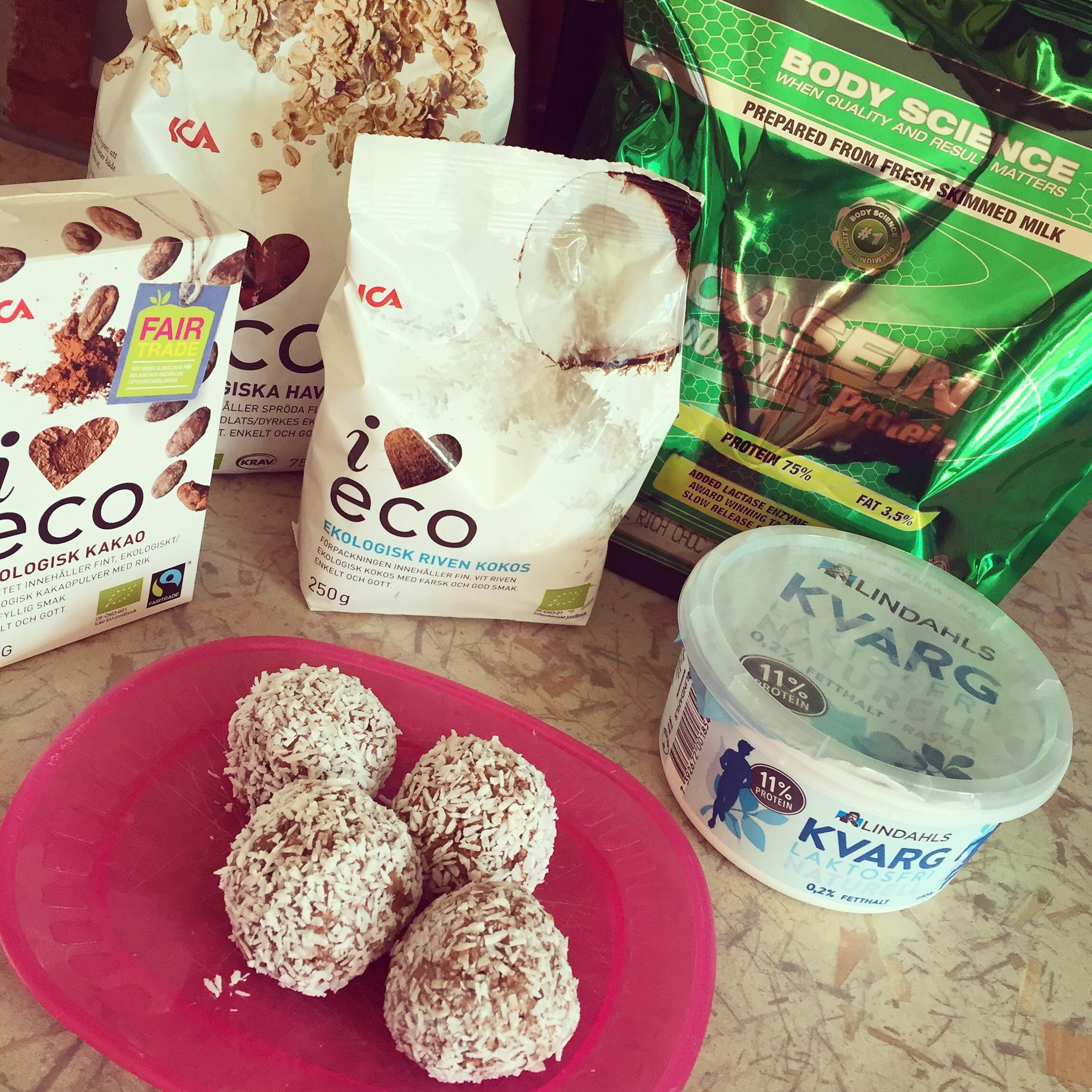 nyttiga chokladbollar proteinpulver