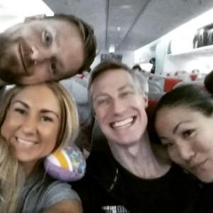Team MUSTIG på gång mot USA i ett lite för litet flygplan ;=)