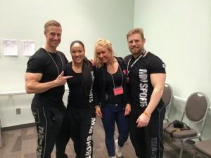 Backstage vid uppvärmningsarean för Arnold Classic Pro RAW Powerlifting ( hardcore and stuff) :)